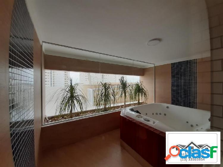Apartamento de 1 suite e lavabo guilhermina praia grande