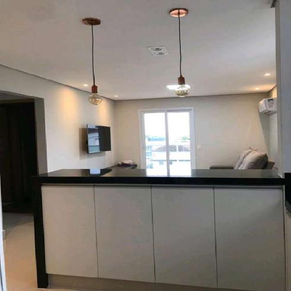 Apartamento 71 m² mobiliado 2 suítes em ponta da praia -