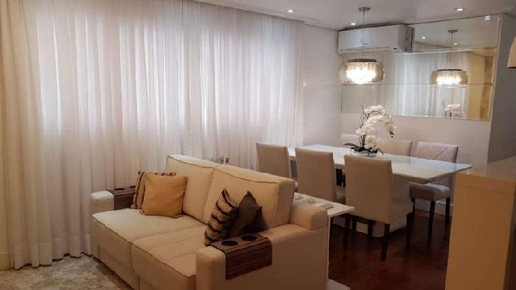 Apartamento a venda 85m2 3 dorm 2 vagas no bairro campestre
