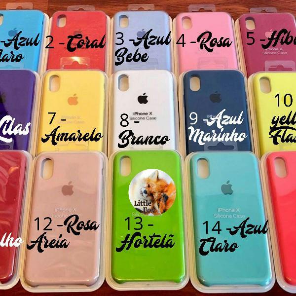 Capinha silicone c/ logo apple iphone 6 em diante