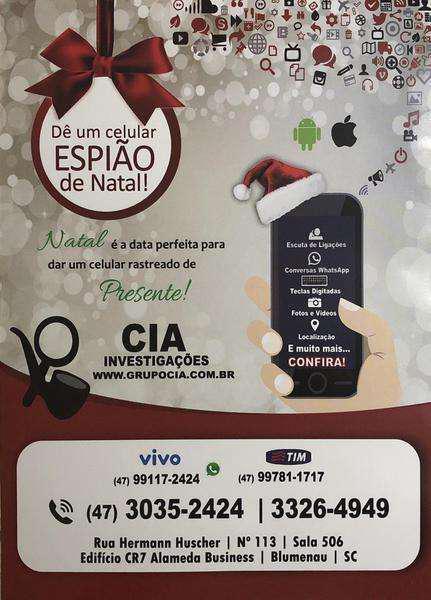 Grupo cia: natal app espião de celular