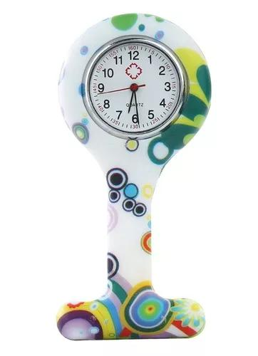 10 unidades relógio lapela silicone green multiformas