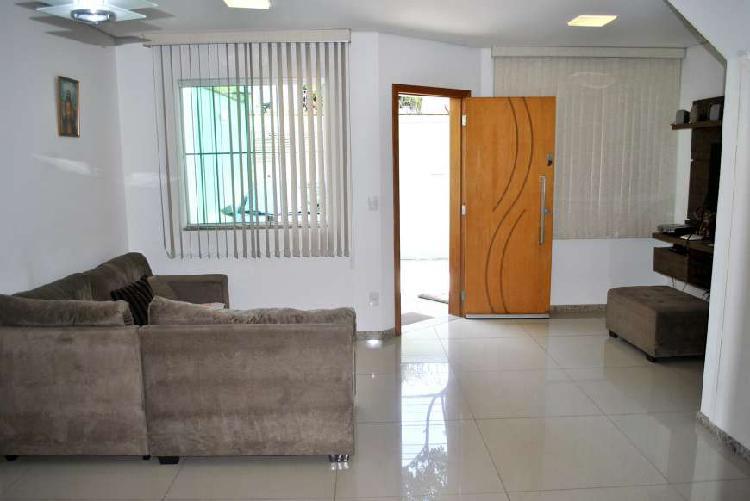 Casa geminada à venda, 3 quartos, 2 vagas, planalto - belo
