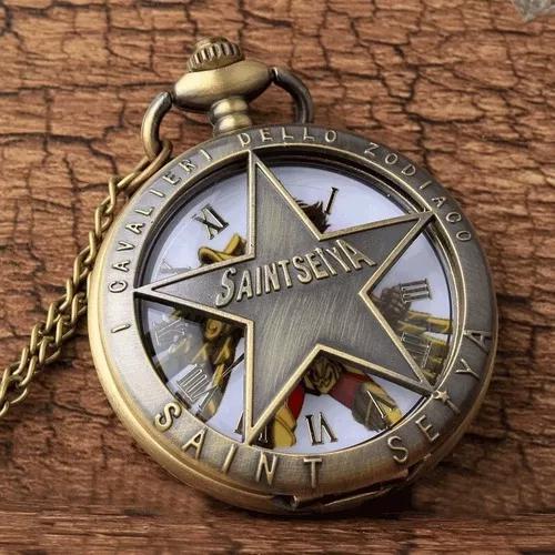 Cavaleiros do zodiaco relogio de bolso colar frete gratis