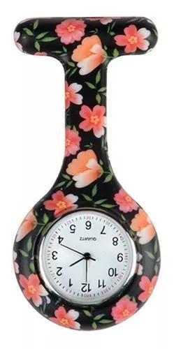 Kit 10 uni relógio lapela silicone enfermeiras black &