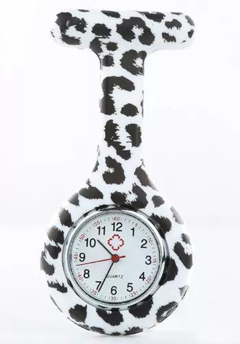 Kit 10 unid relógio lapela silicone enfermag