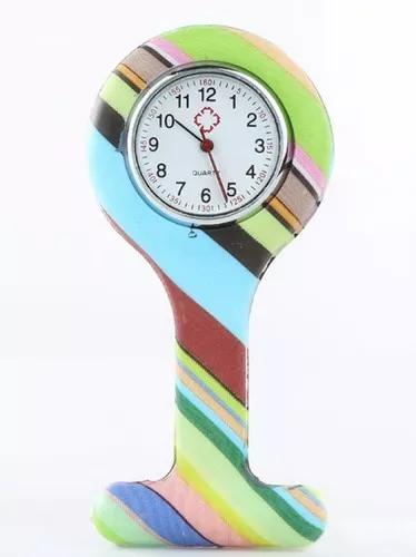 Kit 10 unid relógio lapela silicone multilistras