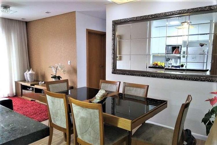 Lindo apartamento planejado 2 dorms(1suíte) 77m² vaga