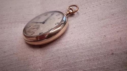 Relógio bolso elgin u.s.a (ano 1926) banhado a ouro