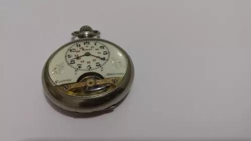 Relógio bolso hebdomas impecável revisado func. fret