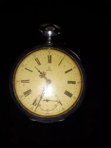 Relógio bolso omega prata grand prix - swiss/1900