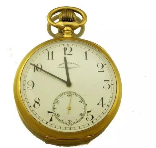 Relógio bolso vacheron constantin por do sol ouro 18k