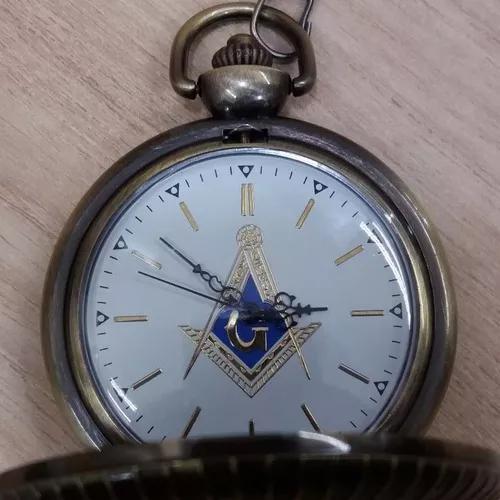Relógio de bolso maçonaria bronze