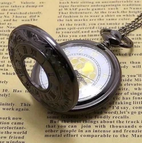 Relógio de bolso números romanos clássico vintage