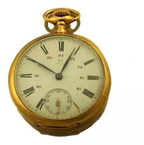 Relógio de bolso omega grand prix paris 1900 ouro 18k