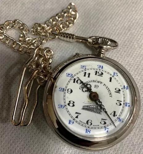 Relógio de bolso roskopf patent ferroviário sec 19