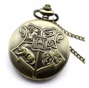 Relogio de bolso hogwarts 4 casas harry potter