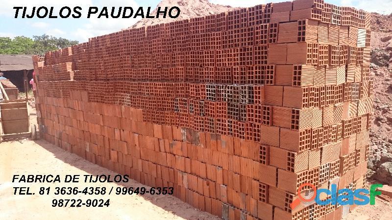 tijolos direto da olaria para o curado jaboatão pe.