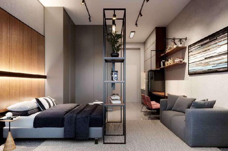 1 dormitório com vaga ao lado da puc