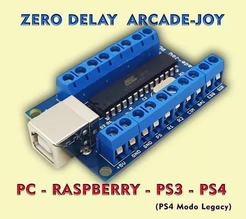 4 placas zero delay pc ps3 ps4 modo legacy raspberry