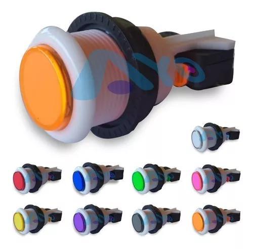 70 botões acrílico arcade /fliperama c/ micro (70