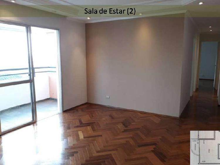 Apartamento para aluguel possui 92 metros quadrados com 3