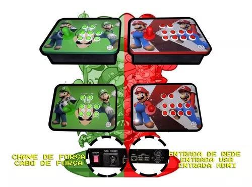 Arcade duplo players separados comandos ópticos