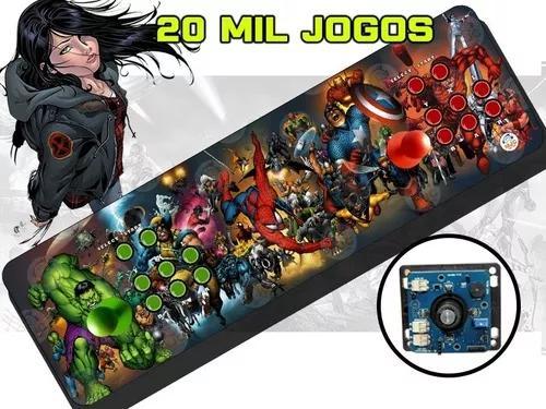 Arcade portátil 20000 jogos com magnético 64gb e 2