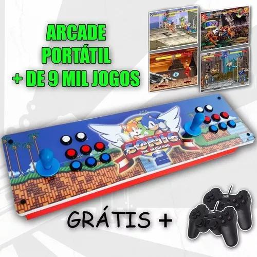 Arcade portátil controle - multijogo 8000 jogos + frete bh
