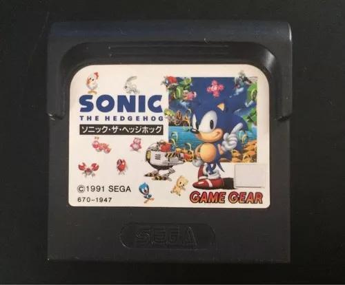 Cartucho fita game gear jogo sonic 1 the hedgehog original