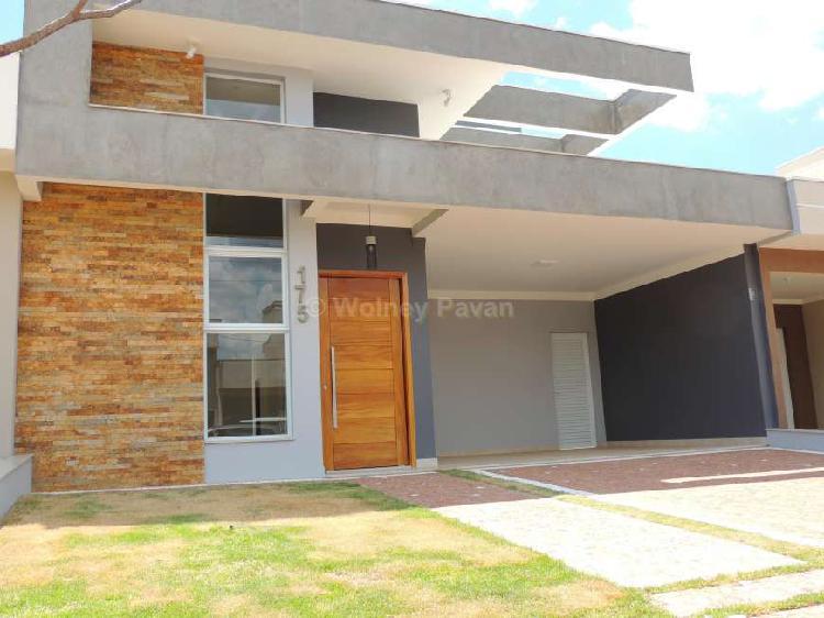 Casa terrea com 3 suítes no residencial reserva real em
