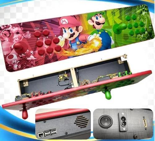 Controle fliperama portátil duplo arcade e com vários