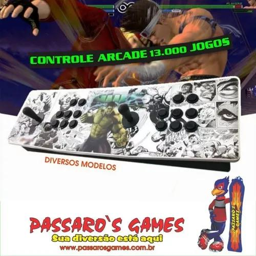 Fliperama arcade portátil 13000 jogos 32gb - acrílico -