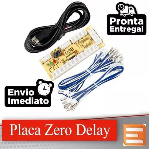Kit placa zero delay pc arcade ps3 ps4 sanwa 15 cabos