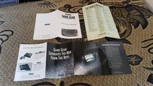 Manual do game gear americano + panfletos v4