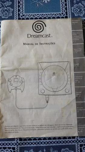Manual original do console dreamcast