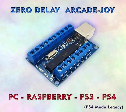 Placa zero delay pc ps3 ps4 modo legacy raspberry