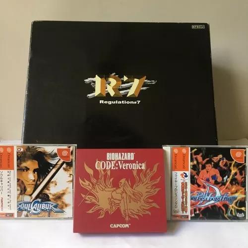Sega dreamcast r7 regulation 7 - na caixa completo + 3 jogos