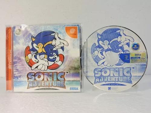 Sonic adventure p/ dreamcast japonês