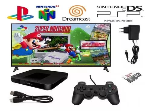 Super game box 64gb dreamcast psp nds n64 play | 2 controles