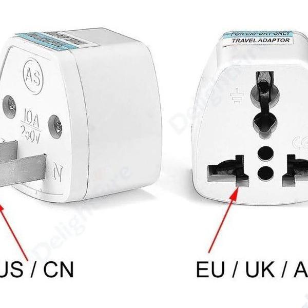 Adaptador tomada universal padrão eu uk ua p/us cn
