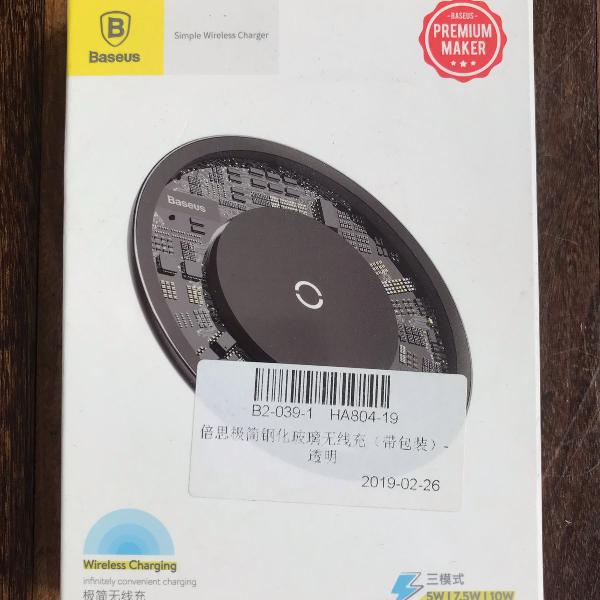 Carregador baseus wireless 10w