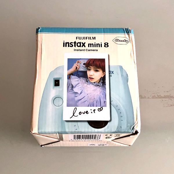 Câmera instantânea fuji instax mini 9 azul bebê