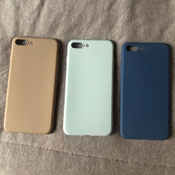 Kit 3 capinhas iphone 8 plus novas