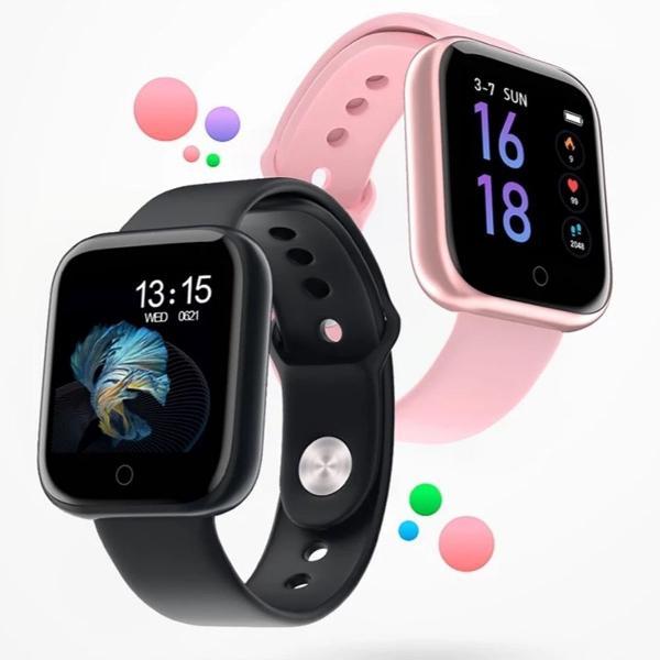Relógio smart watch p70 sport com duas pulseiras