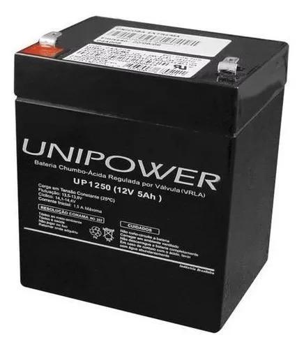 Bateria 12v 5a selada - alarmes/cerca elétrica/nobreak