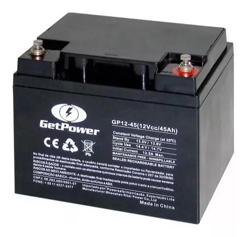 Bateria gel selada 12v 45ah - tecnologia agm vrla