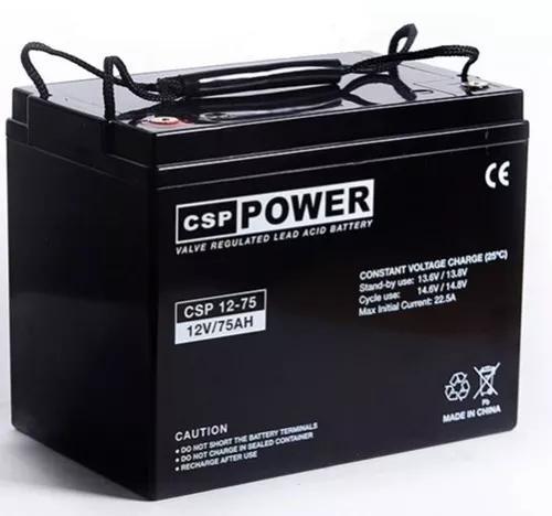 Bateria gel selada 12v 75ah agm vrla alarme-seg-nobreak
