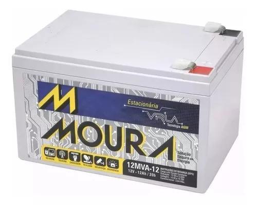 Bateria moura 12v 12ah vrla estacionária / nobreak bike