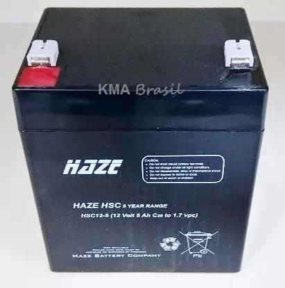 Bateria selada 12v 5ah haze hsc/hma12-5 - vida útil: 2 anos